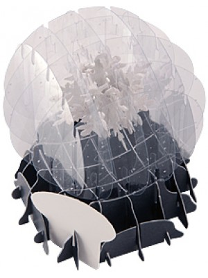 3D открытка «Снежинка»